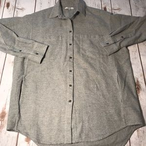 Madewell Gray Flannel Button Down